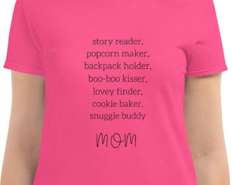 Gift for Mom Mother's Day T Shirt Pretty Love Mom Shirt