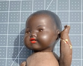 African German American Black Composition 39 Topsy 39 Doll 11 Inches - Damaged