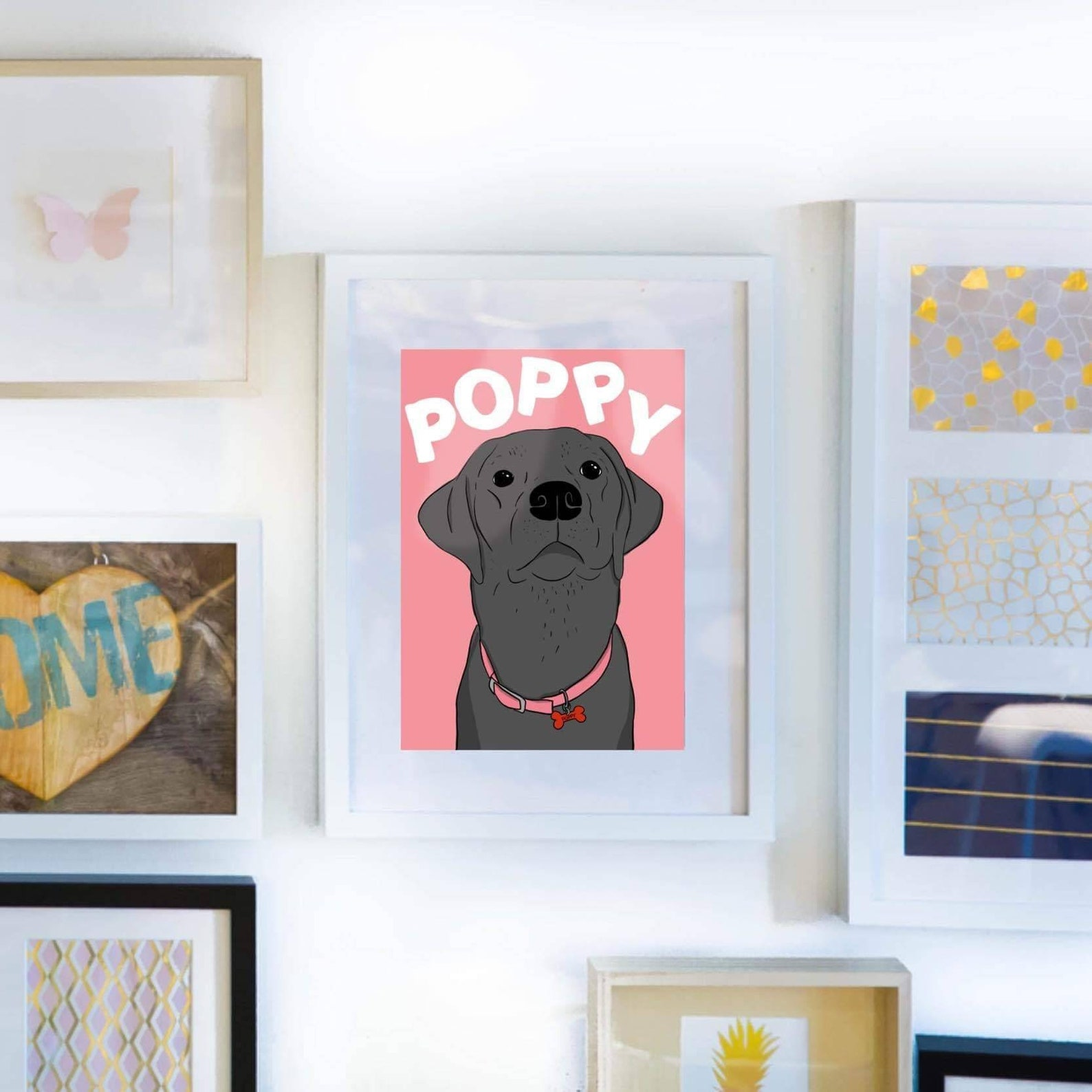 Pop colour dog portrait