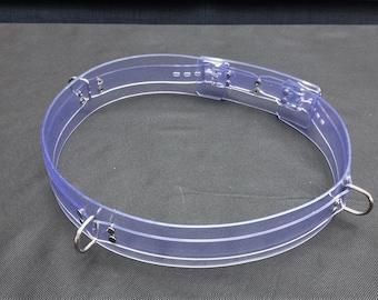 Handmade Clear PVC Lockable Waist Belt