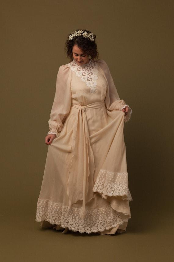 Wedding dress wedding dress dress vintage BOHO 70s