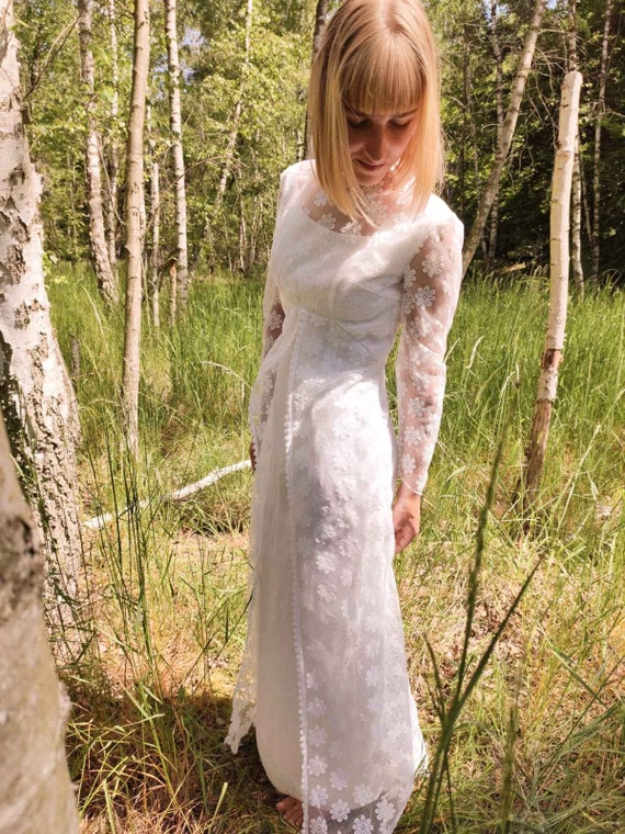 Wedding wedding dress dress vintage 60s BOHO hippi