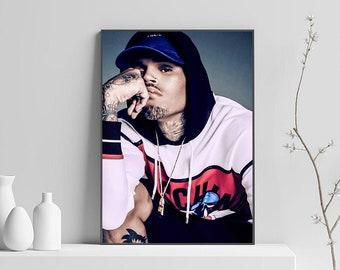Chris Brown Undecided Music Hip Hop Album Fabric Decor Poster B115