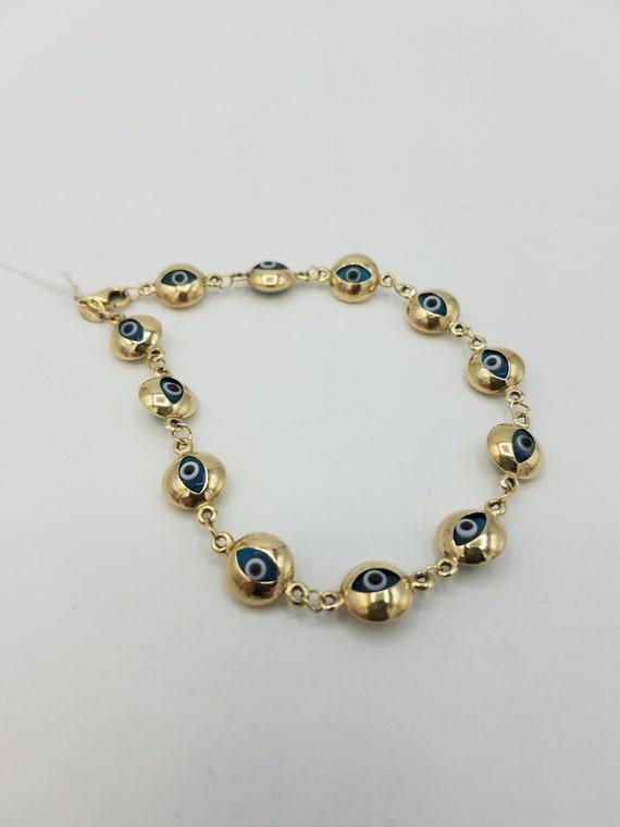 evil Eye Bracelet in 14k Gold