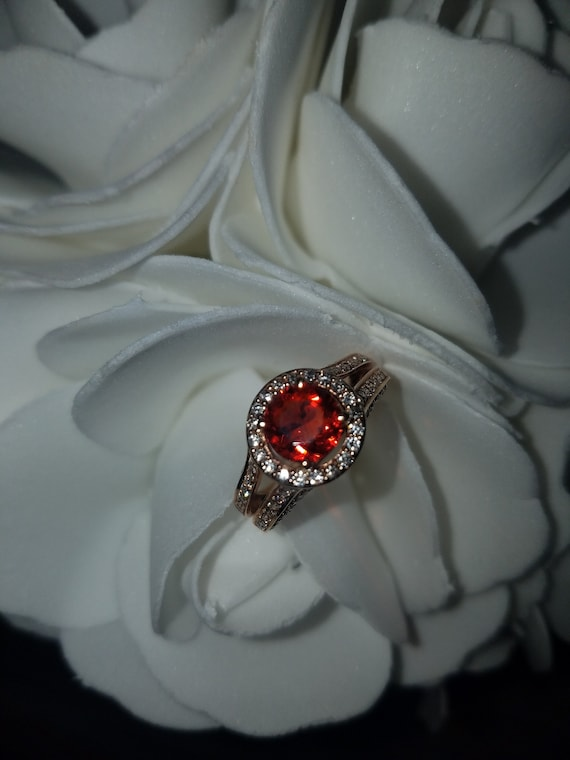 Levian Mexican fire Opal Ring  with Diamonds in 14