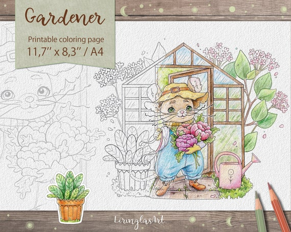 Gardener  fantasy coloring pages for kids printable coloring