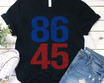Impeach Trump Not My President 86 45 Baseball Uniform Jacket Sport Coat