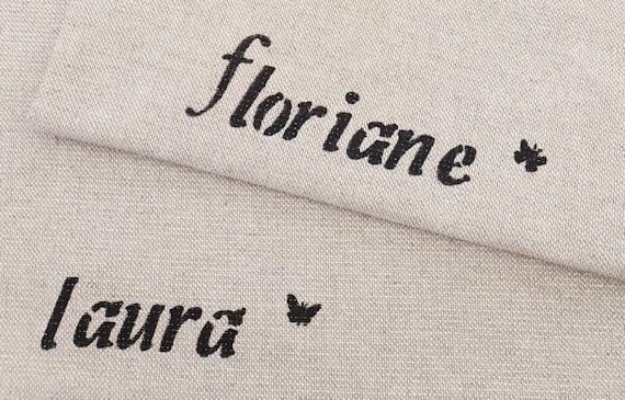 Customizable Alienor model lingerie pocket bag in sequined linen