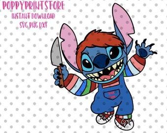 Stitch Halloween Svg Etsy