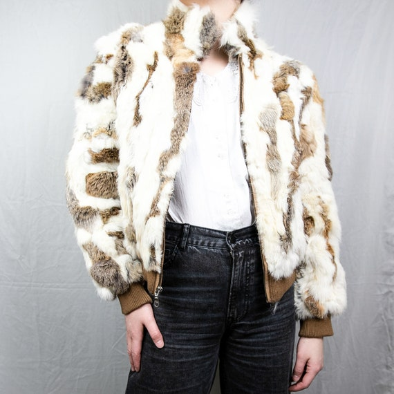 Vintage Wilsons Leather Fur Bomber Jacket