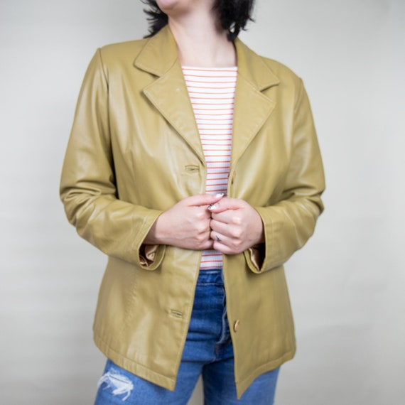 Vintage Leather Blazer