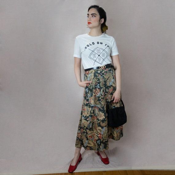 Paisley Maxi Skirt With Pockets