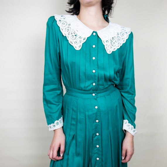 50s Peter Pan Shirt Dress