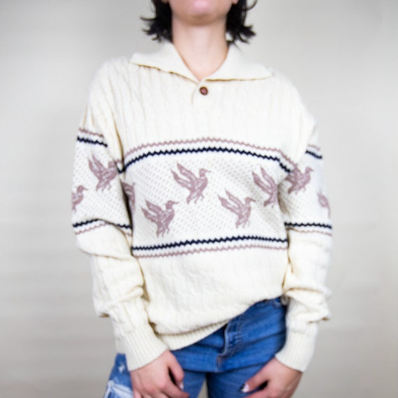Oversized Holiday  Collar Sweater