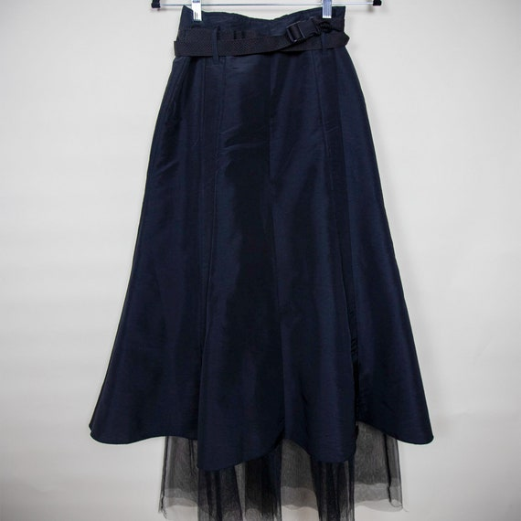 High Waisted Belted Athletic Tulle Skirt - image 2