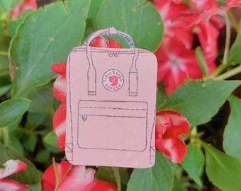 Pink Backpack Sticker
