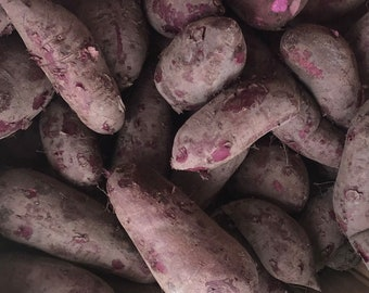 2 Lbs Japanese Purple Naturally grown sweet potatoes/purple flesh