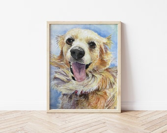 Custom Watercolor Pet Portrait   Hand Painted    Original Pet Art