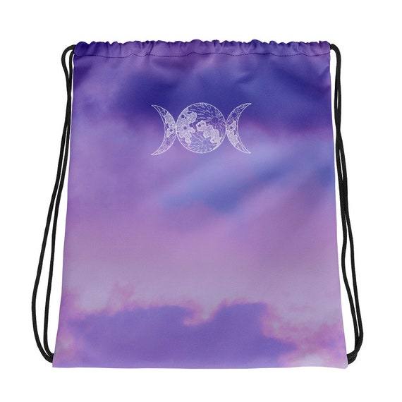 Triple Goddess Wiccan Backpack Witch Backpack Witchcraft Bag Witch Stuff Triple Moon Goddess The Triple Goddess Drawstring Wiccan Bag
