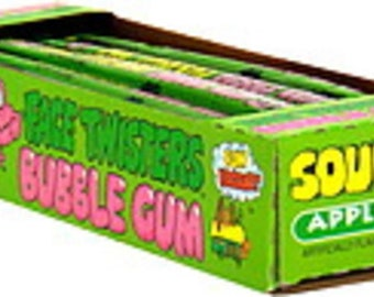 Sour Face Twisters Bubble Gum / Choice of 2 Flavors Green Apple & Strawberry - Hard To Find / Tik Tok Sour Candy