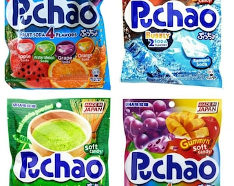Puchao Chews - Japanese Asian Anime Candy - A little like Hi-Chews only better!! Yummy Good! Various Flavors to pick from