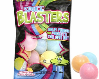 Space Blasters Sour Candy / 1 Full Bag, Almost 20 Pieces! Best price on Etsy! Sold out EVERYWHERE!