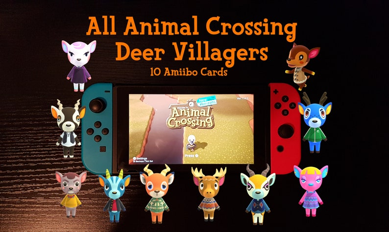 All 10 Deer Villagers Animal Crossing Amiibo Cards ACNH | Etsy