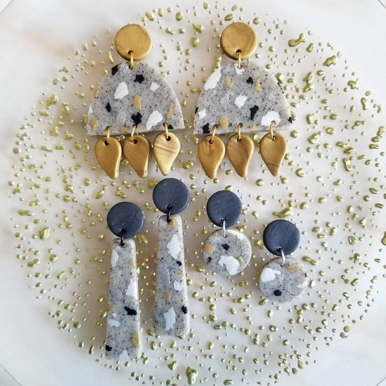 Speckled Polymer Clay Earrings Starlet Collection