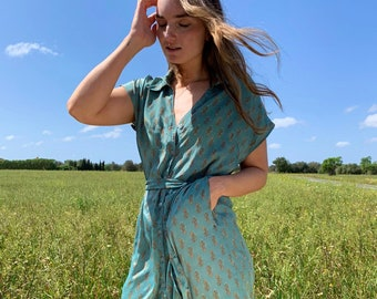 Silk dress designer printing / Silk complex wear dress / luxurious silk  dress / full length beach cover up / women's wrap