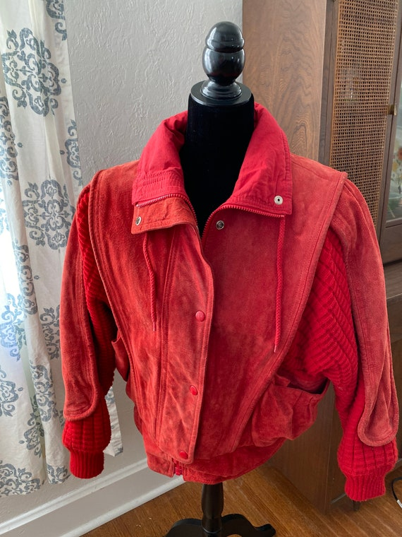 1980s Women's Outerbound by HMS Suede and Sweater