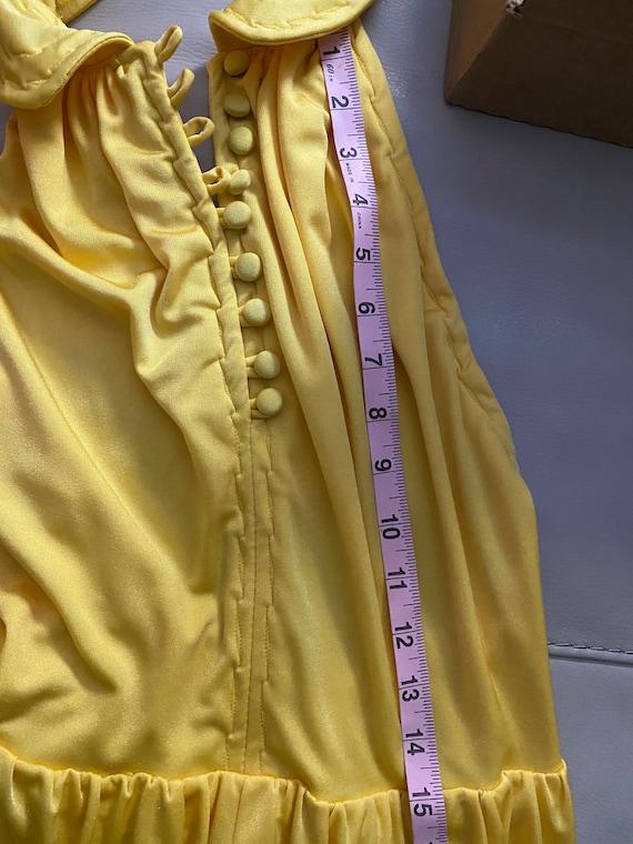 1970s Bright Yellow Halter Maxi Dress - image 7