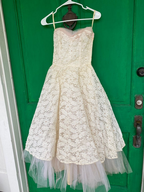 1950s Prom/Formal Dress - image 1