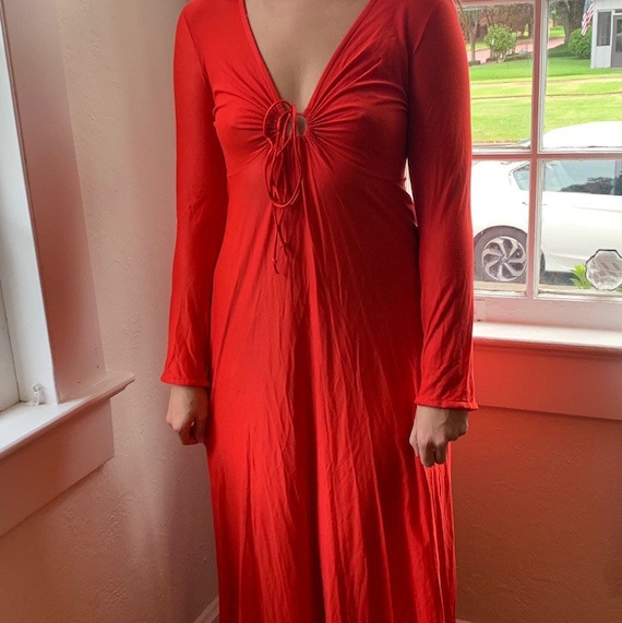 Vintage Vanity Fair Red Nightgown