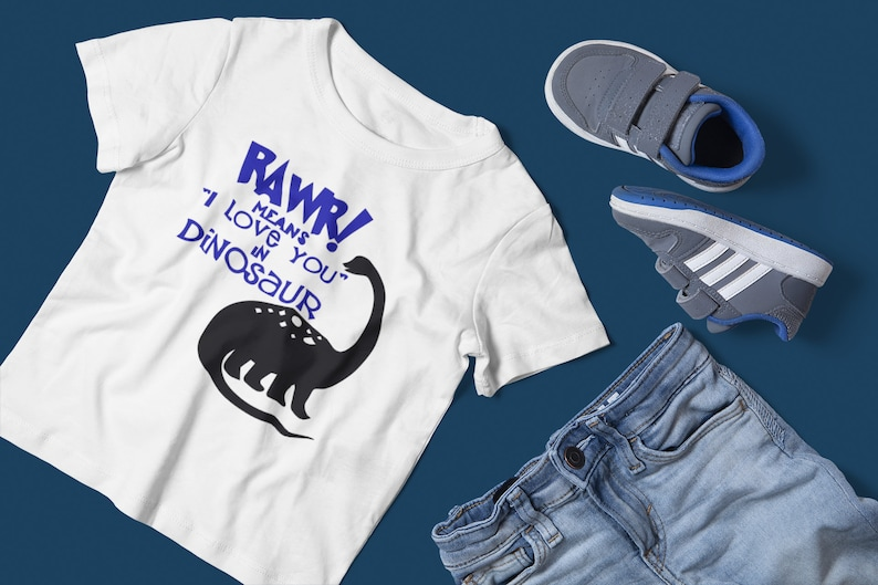 Rawr Means I love you in Dinosaur Kids T-shirt Top Singlet ...