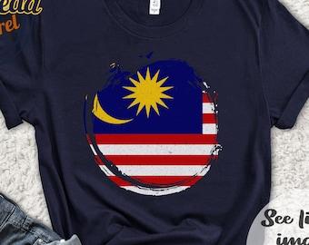 Malaysian Flag Southeast Asia Used Vintage Malaysia Patch 3.25 Travel Collectible Black Velveteen Kuala Lumpur Souvenir