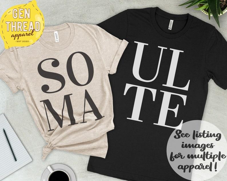 Men Women Hoodie Husband Shirt Tank Top Soul Mate Matching Design Partner Pair Anniversary Personalized Couples Wife