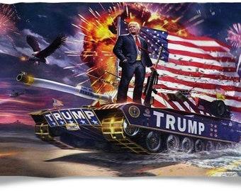 TRUMP BUILD THE WALL 2020 FLAG BANNER BLUE US GOP 3/'X5/' ® 100D USA PRESIDENT