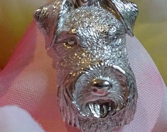 Airedale Terrier Sterling Silver Pendant