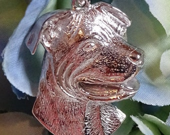Staffordshire Bull Terrier Sterling Silver Pendant