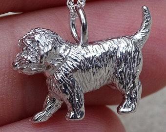 Cockapoo Silver Pendant