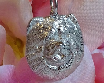 Sterling Silver Chow Chow Pendant