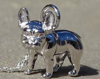 French Bulldog Silver Pendant