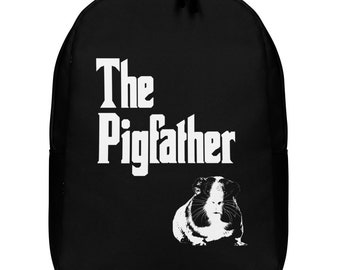 The Pig Father Guinea Pig Minimalist Backpack