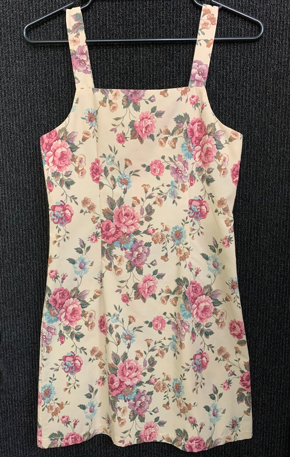 Ditsy Floral Pinafore Mini Dress XS Aus 8