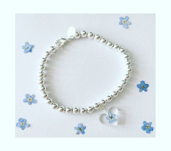 Personalised Pomeranian Sterling Silver Ball Bead Bracelet with 3D Charm by MYLEE London