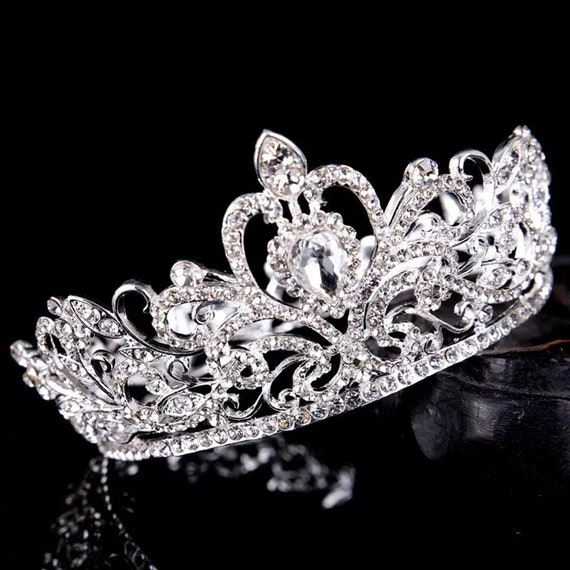 Women Full Circle Crown Vintage Crystal Rhinestone Tiara And Crowns Head Jewelry Bridal Diadem Wedding Hair Accessories,tiara for wedding
