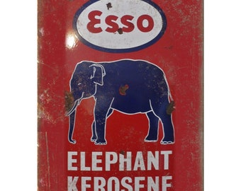 Esso Elephant Kerosene Porcelain Look Reproduction Metal Sign U122