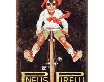 "Pneu Velo Hutchinson Vintage Bicycle Ad 10/"" x 7/"" Reproduction Metal Sign B356"