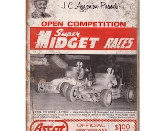 """JC Agajanian Midget Race San Jose Speedway 10/"""" X 7/"""" Reproduction Metal Sign A578"""