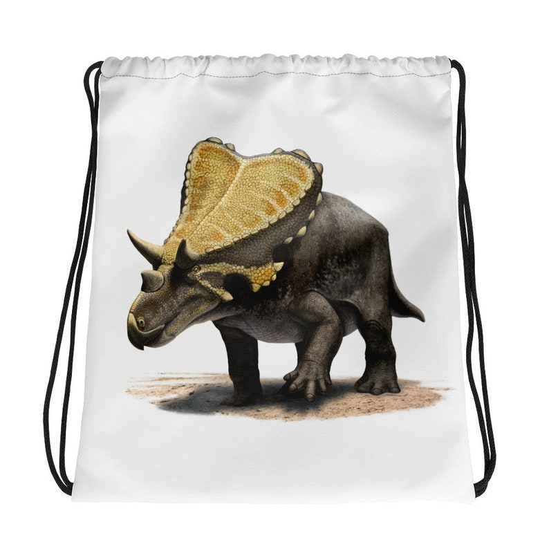 Dinosaur Bag For Kids Boys Girls Adults Women Men Birthday Dinosaur Gift Ideas For Dino Lovers Mercuriceratops Dinosaur Drawstring Bag
